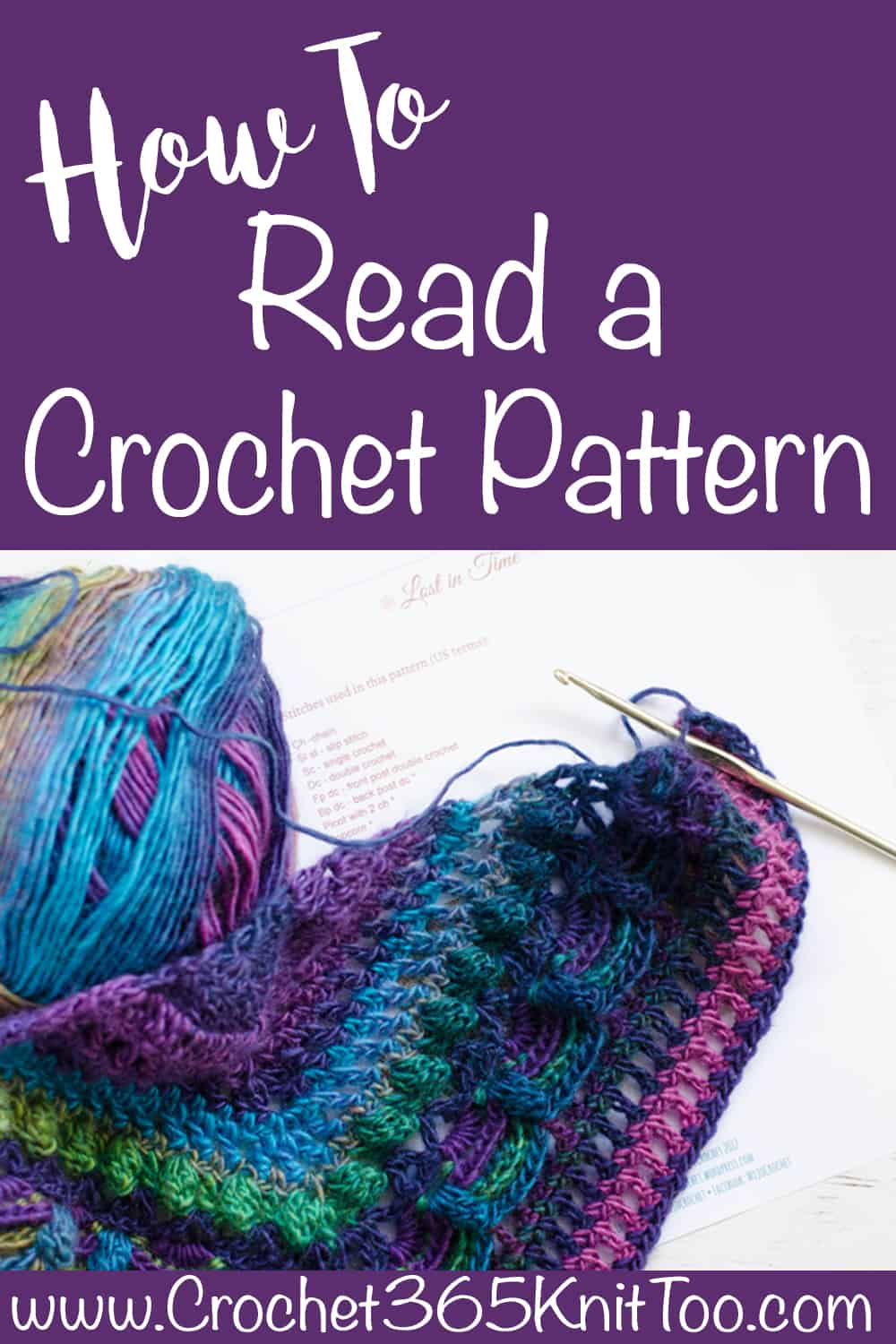How to read a crochet pattern crochet 365 knit too how to read a crochet pattern pooptronica