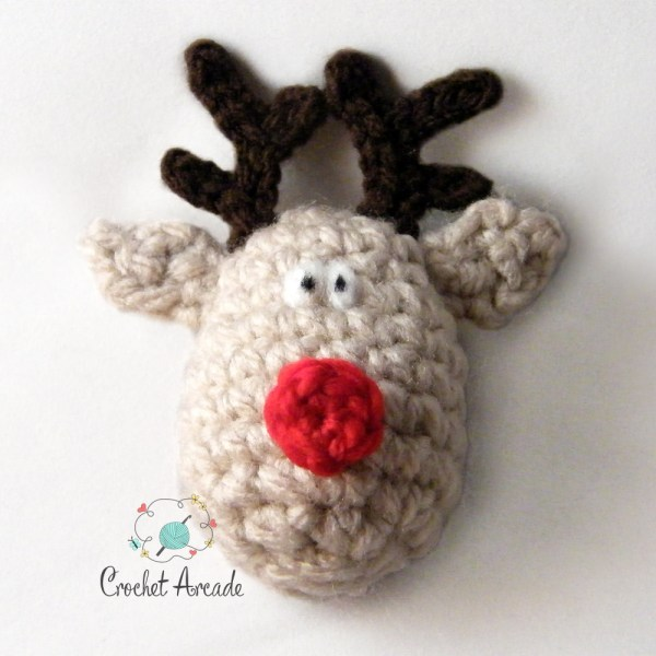 Reindeer_Christmas_Ornament_Free Crochet_Pattern in Robin Chunky Yarn