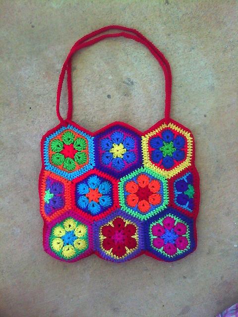 crochet hexagon crochet purse