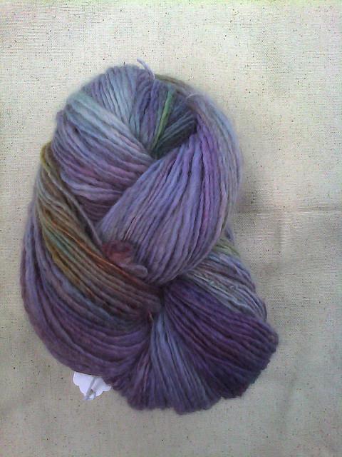 Handspun, hand-dyed wool yarn