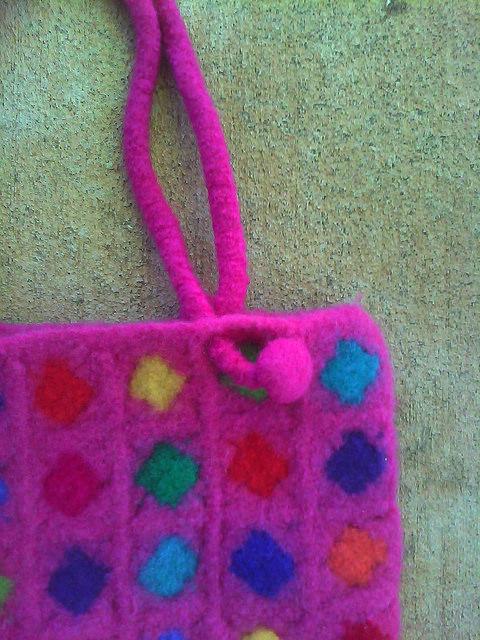 felted crochet strap join