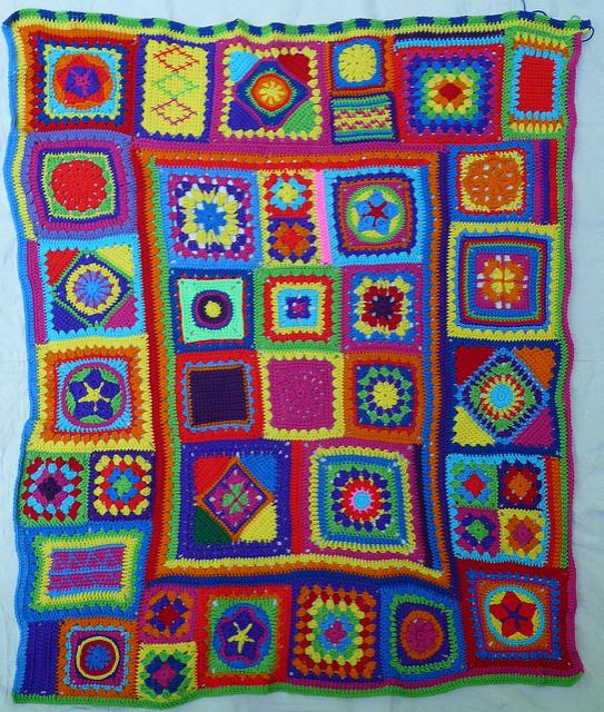 crochet blanket with crochet border