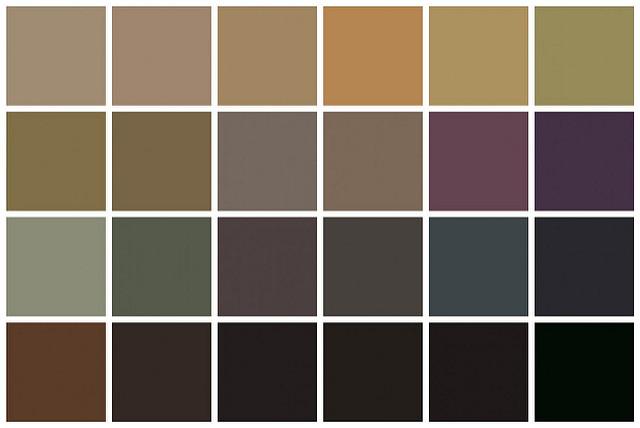 palette of neutrals