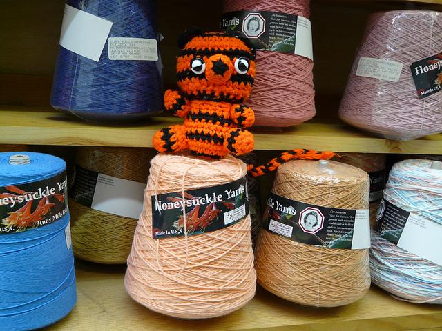 crochet tiger with sport weight yarn