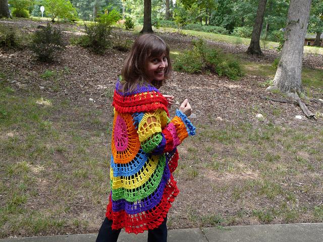crochet circle jacket