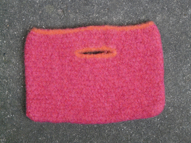 small felted crochet bag