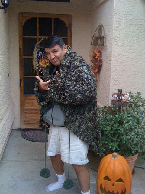 crochetbug, crochet circle jacket, crochet circle, crochet jacket crochet sweater, camouflage yarn