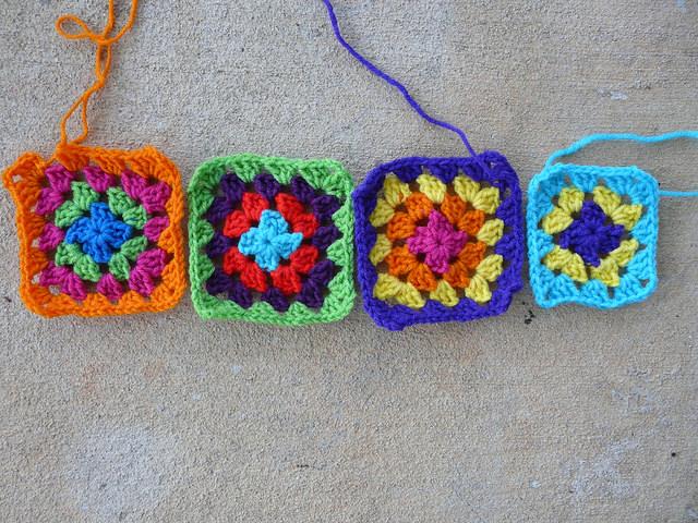 granny squares, crochetbug, crochet squares, go-go granny dress, crochet dress,