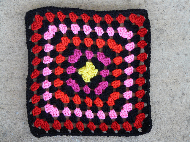 twelve inch crochet granny square