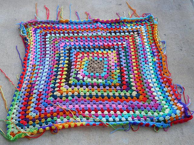 large crochet granny square