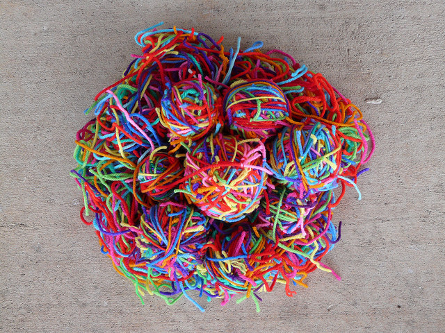 yarn scrap magic yarn ball