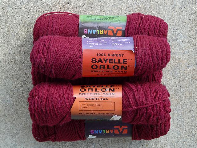 acrylic vintage yarn