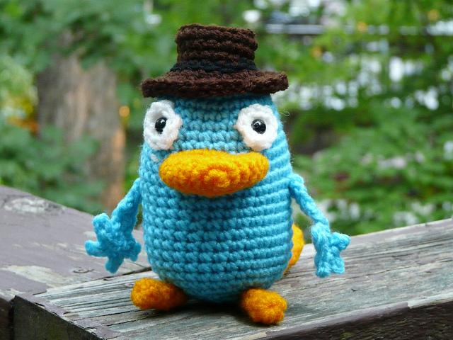 crochet platypus crochet fedora