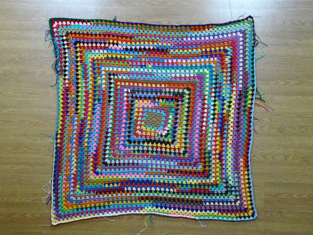 scrap crochet granny square