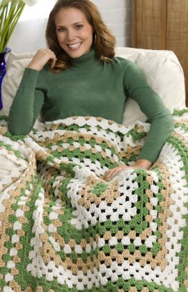 weekend granny crochet throw
