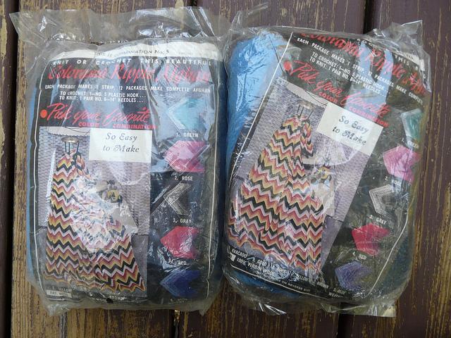 Crochet ripple afghan kits
