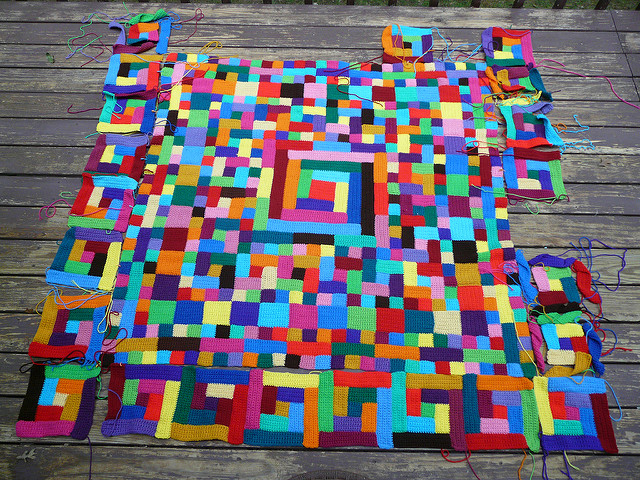 crochet squares and crochet rectangles , crochetbug, crochet blanket, crochet throw, crochet afghan