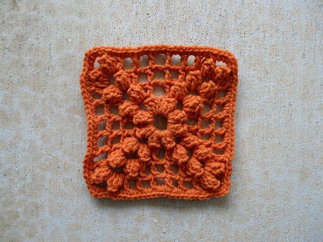 textured crochet granny square