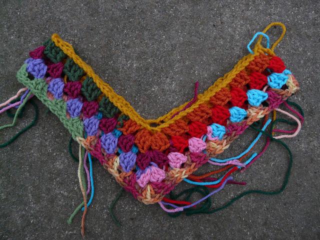 granny stripe crochet poncho to be
