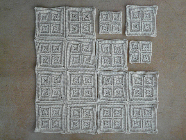 large textured crochet squares