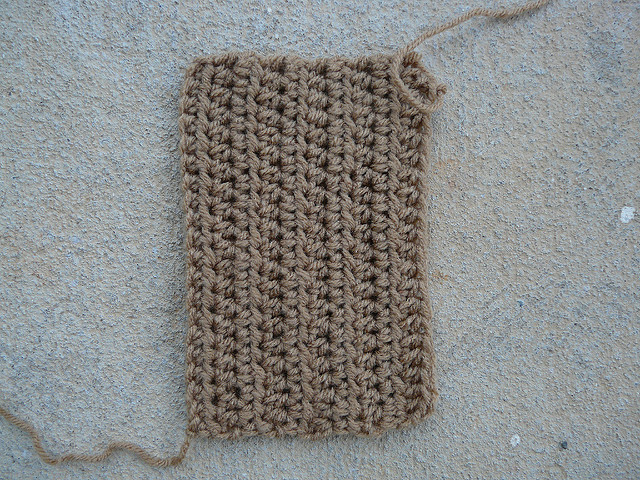 half-double crochet swatch