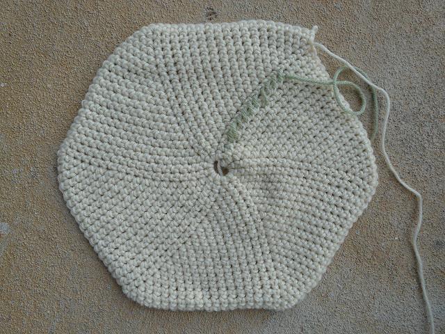 crochet stash basket base