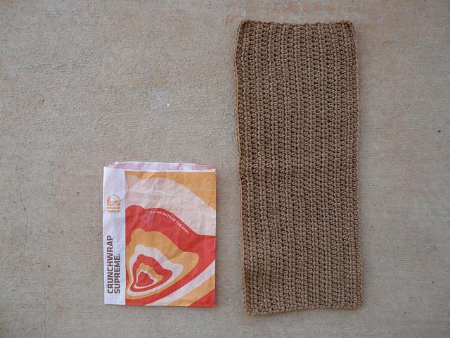body of a crochet purse