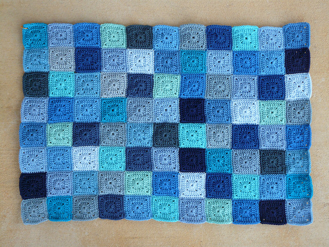 crochet squares blue crochet baby blanket