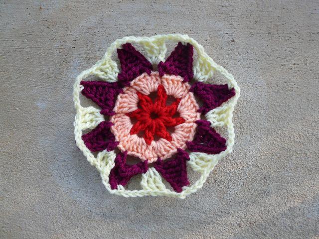crochet square crochet octagon center