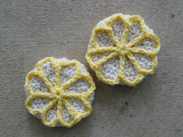 Lemonades inspired crochet cookies