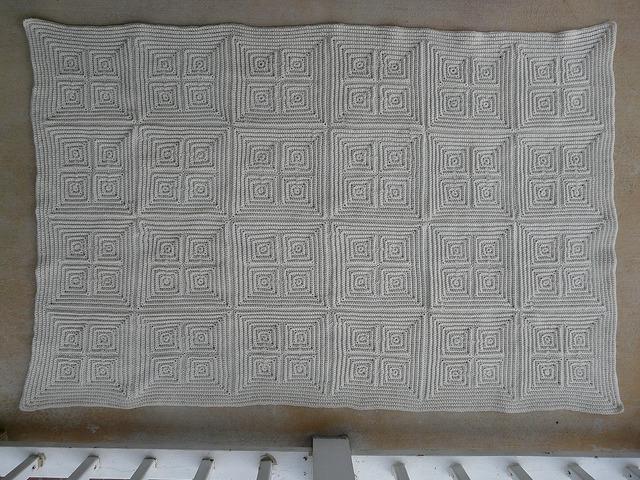 textured crochet squares blanket
