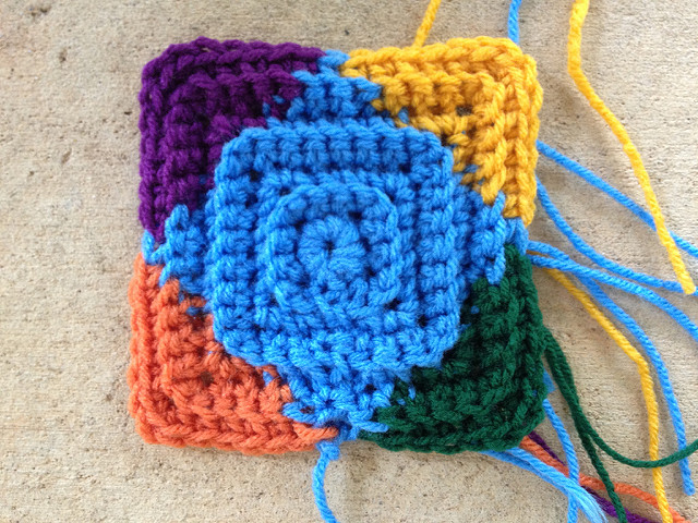 textured crochet square
