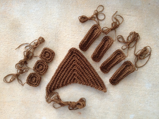 textured crochet pieces