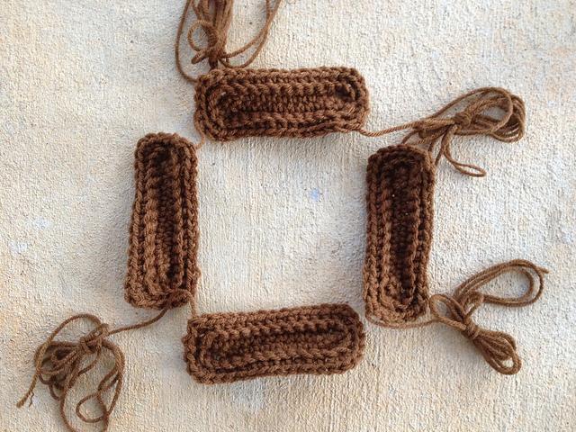 textured crochet rectangles