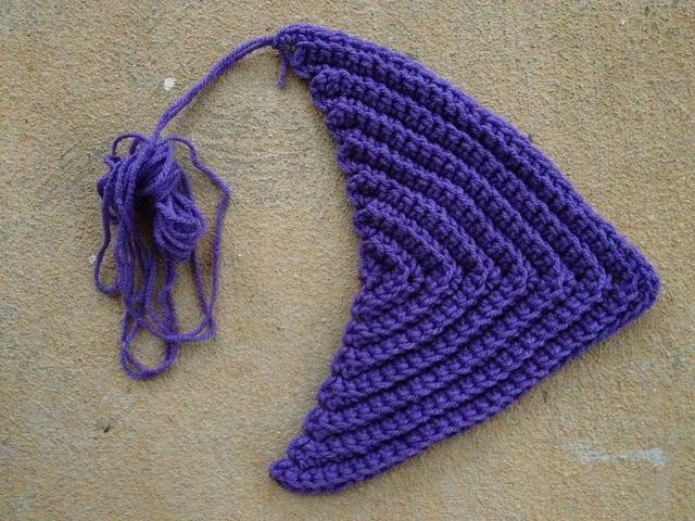 lavender crochet triangle