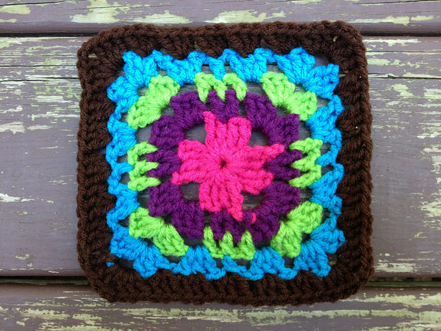 crochet square F-2 crochet purse