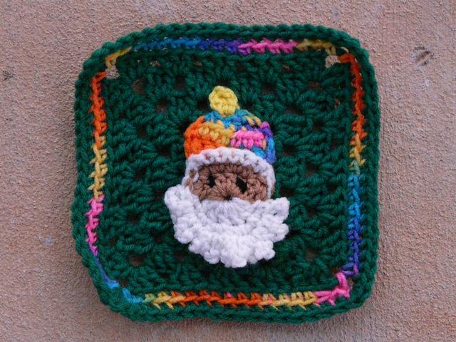 crochetbug, crochet square 91, granny squares, appliqué crochet, crochet embellishment