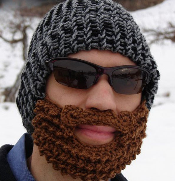 Stash Down Challenge 2012 Day 18 A Crochet Beard And Helmet For