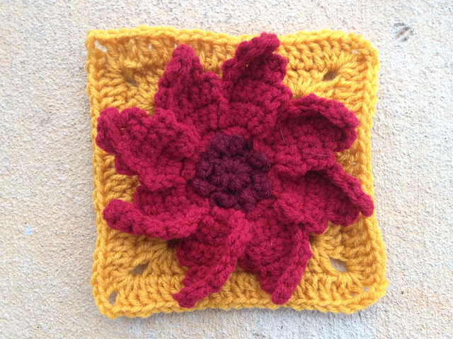 crochet flower crochet poinsettia