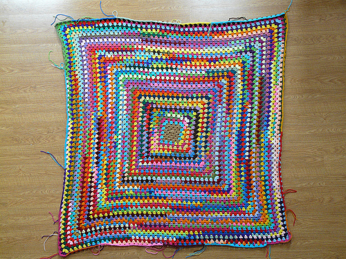 I get out my great granny square, January 26, 2013