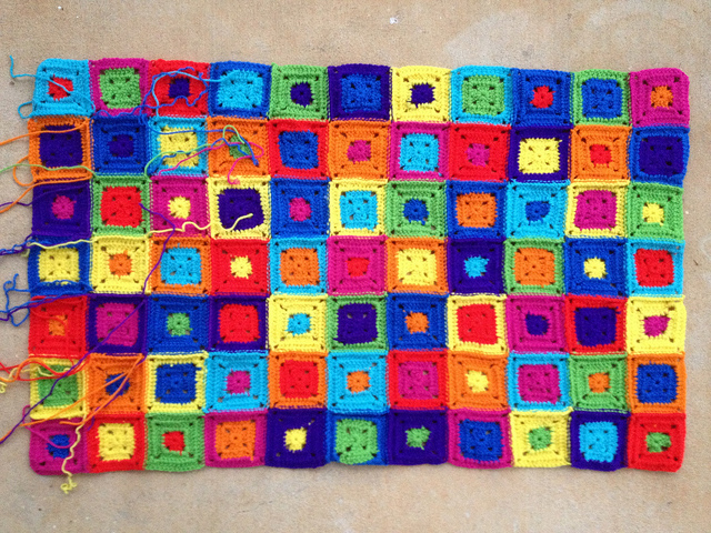 crochet squares joined