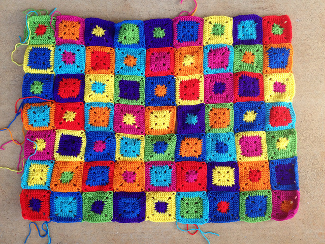 permutations crochet squares