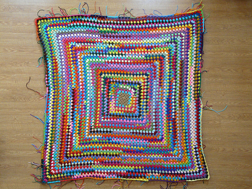 The great granny square shortly after noon on January 27, 2013