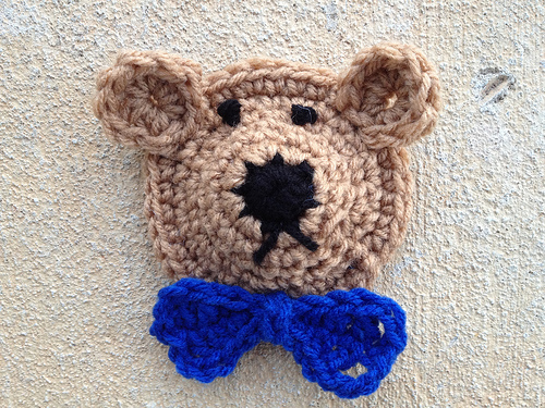 My first completed bear face