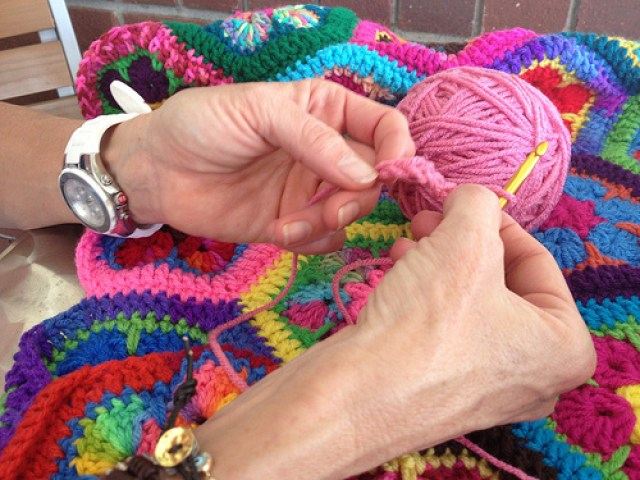Sally's first crochet chain