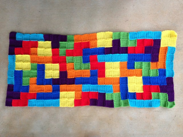 crochet blocks with ends woven in