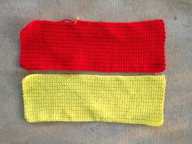 panels of single crochet