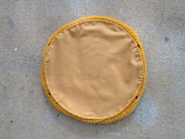 fabric lining crochet taco purse