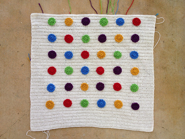 crochet dots crochet blanket