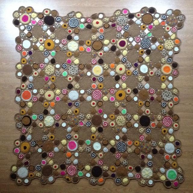 crochet cookie afghan